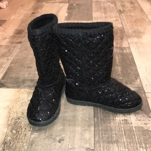 Other - Girls black sparkly boots size 12